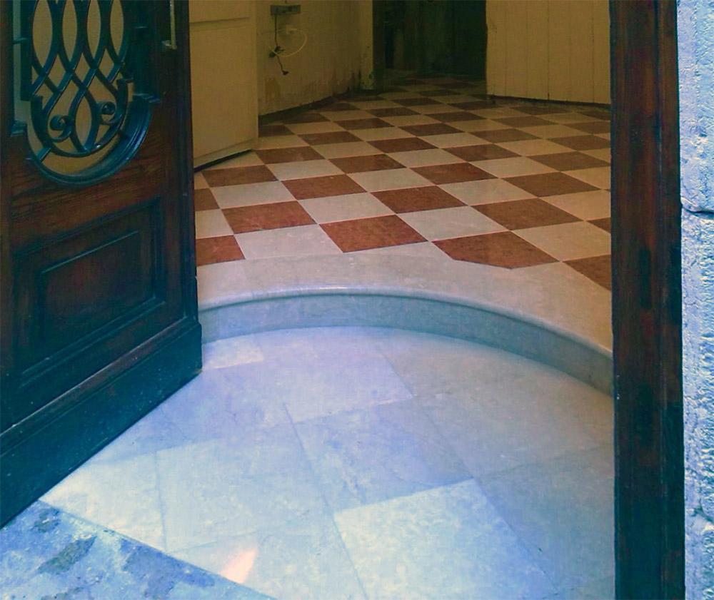 Hallway step detail
